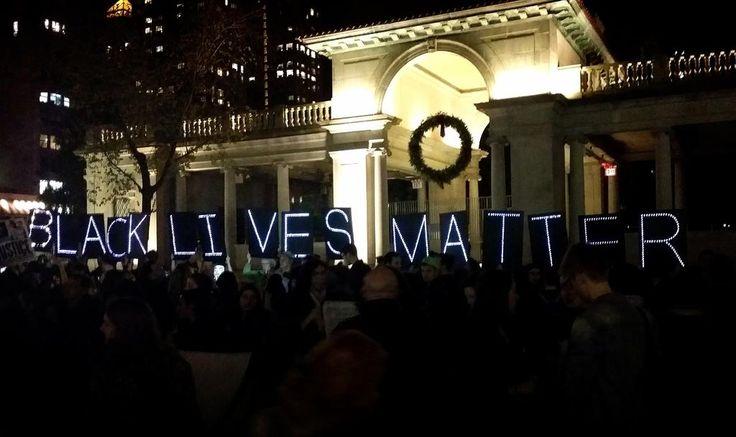 """""""Black Lives Matter in Union Square. #BlackLivesMatter #FergusonDecision"""""""