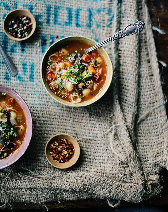 Rustic Vegetable Chickpea Soup | Foodess