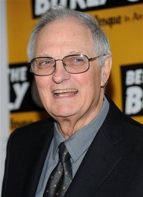 """Alan Alda  """"M*A*S*H"""" actor Alan Alda joined the Army Reserve and completed the minimum six-month tour of duty as a gunnery officer during the Korean War"""