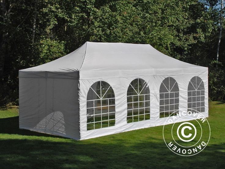 POP UP GAZEBO FLEXTENTS PRO VINTAGE STYLE 4X8 M WHITE, INCL. 6 SIDEWALLS Pop up gazebo FleXtents PRO is a high professional quality pop up gazebo with easy set up in just 60 seconds. Complete set incl. 6 sidewalls, pegs and a practical carry bag with wheels. A flexible, functional and durable pop up gazebo.