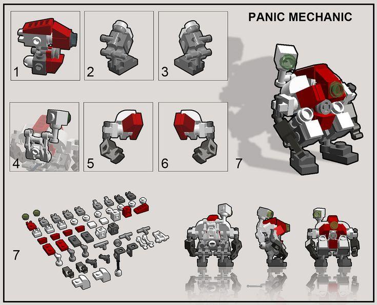 lego mech suit instructions