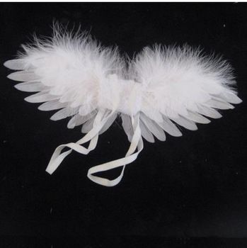 Little Angel Wings Small Natural  White Feather Wings birthday gift Cupid wing Costume Wings