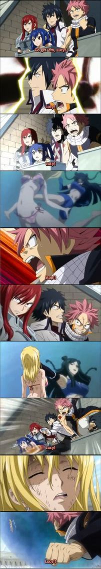 You know an anime is good if you get pissed off along with the characters, when this happened I was angry. Fairy Tail is one anime that I feel like the characters have become my family  so when they are hurt I am so sad. Fairy tail is one anime you can't go without watching if you feel the same repin this! Fairy Tail for life