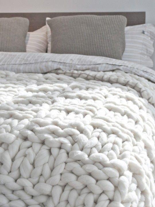 knitting crochet knitting deco style Nordic Scandinavian textile decoration diy diy diy point crochet deco decoration diy wool Crochet and point XXL (chunky knit) blog home decoration accessories interior textiles