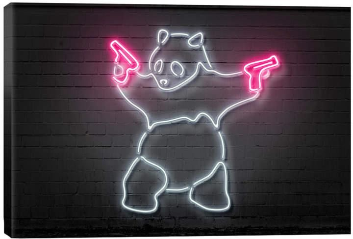Icanvas Icanvasart Panda With Guns By Octavian Mielu Airsoftsurgeon Shotgunshellscraftsdiy Gundecor Cartelguns Goldplatedgu Neon Wallpaper Neon Signs Neon Art