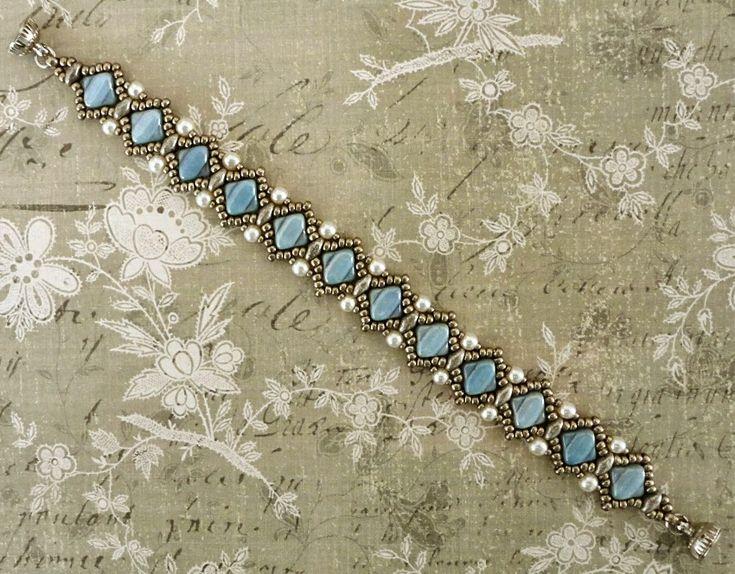 Linda's Crafty Inspirations: Free Pattern - Sophia Silky Bracelet