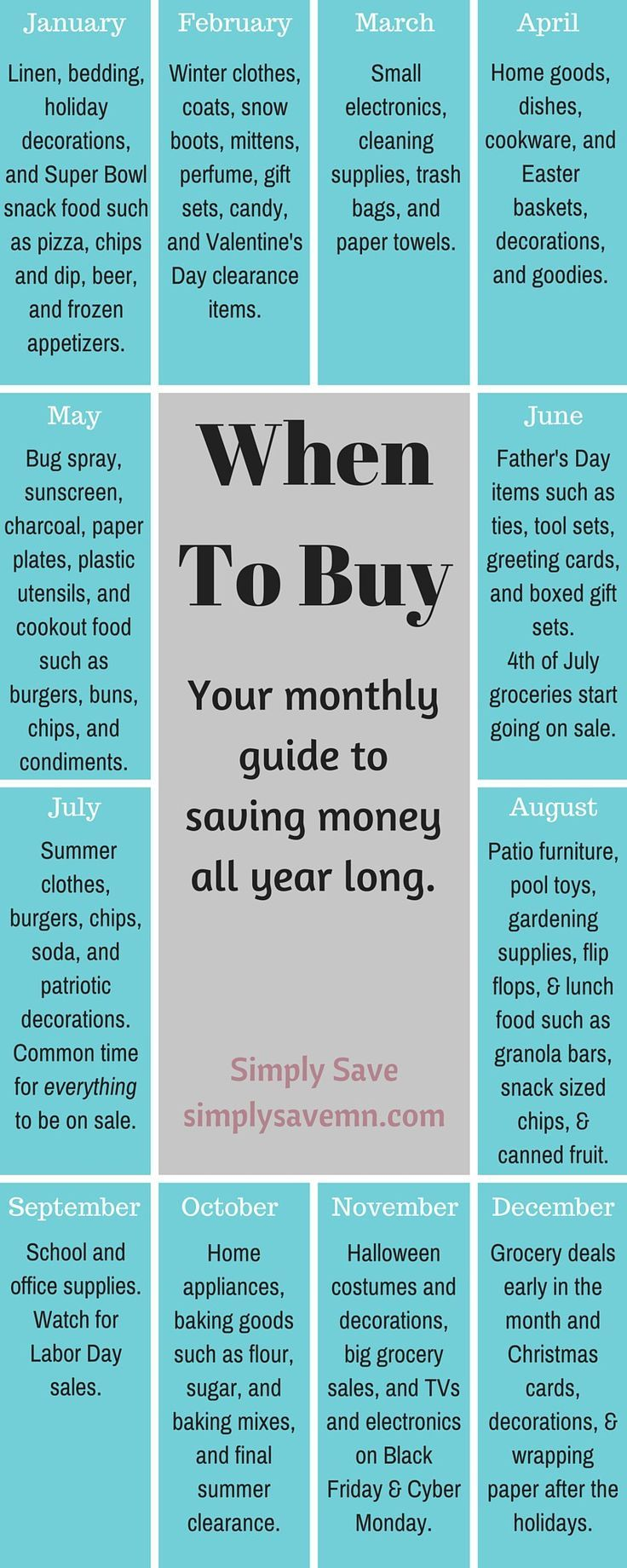 When To Buy: A Monthly Guide