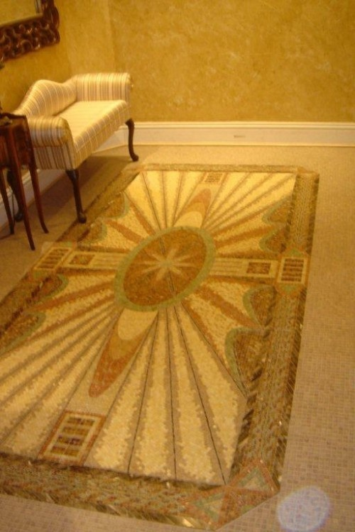 Foyer Medallion Designs : Custom mosaic medallion entry way living room foyer