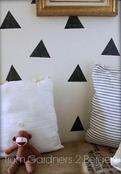 Easy Niche Update Diy Triangle Faux Wallpaper