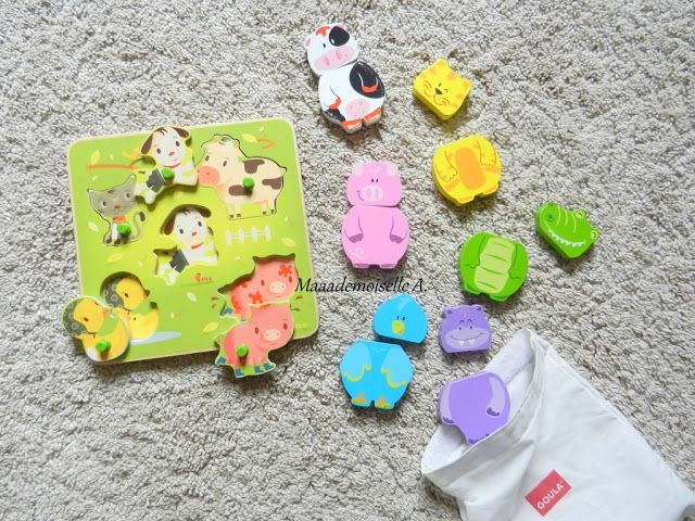 Puzzle Chacha & Co & Les animaux magnétiques en bois