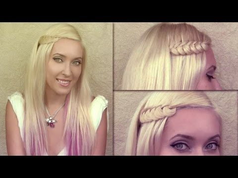 ▶ Knotted braid hair tutorial Party and everyday hairstyles for medium long hair - YouTube