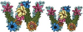 Exotic Flowers Font - Letter W