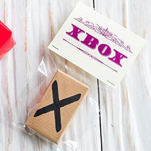 X box Letter X written on cardboard box | Funny Christmas gifts | Tesco Living