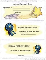Printable Promise Notes for Dad on Father's Day. Great (and inexpensive) idea! #FathersDay #Dads