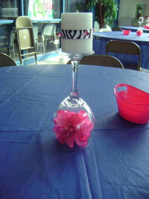 centerpiece i did for my daughters 16th birthday party