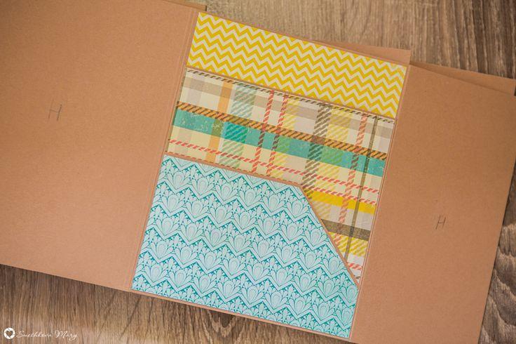 Моя скрап мастерская: Фотопапки. Дизайн страницы B. Два горизонтальных кармана.