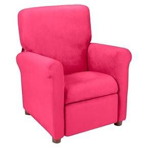 Kids Urban Reclining Chair - Racy Pink Microfiber : Target