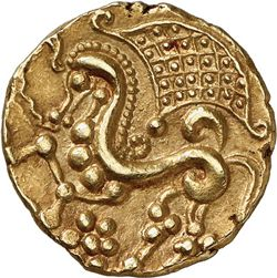Coin of the Parisii, Gaul. This Celtic tribe has given the name of the modern town of Paris.