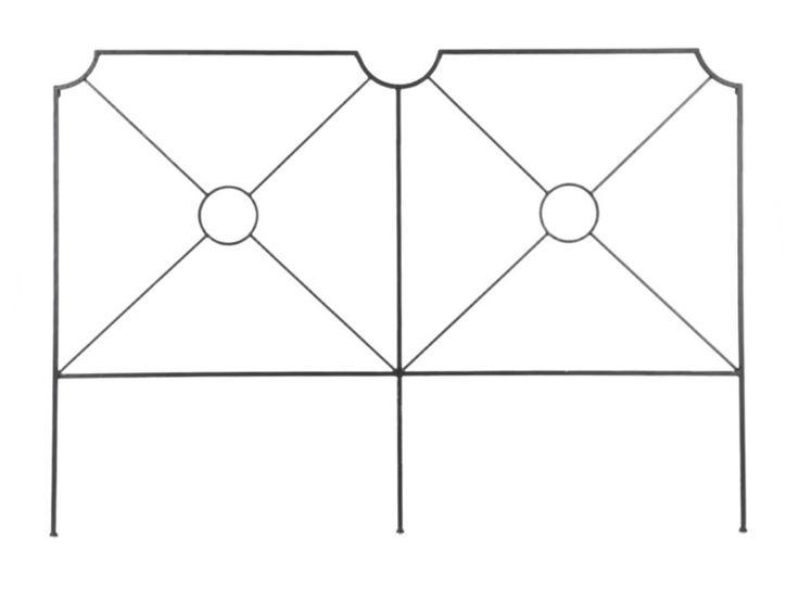 Tête de lit en métal Hauteur 120 cm CIBLE 170cm