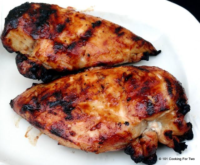101 Cooking For Two - Everyday Recipes for Two: Simple Grilled BBQ Skinless Boneless Chicken Breast
