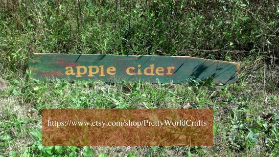 Apple Cider Wood Sign Hand Painted On By