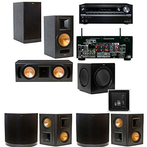 Klipsch RB-61II 7.1 Home Theater System-Onkyo TX-NR838 7.2-Ch Klipsch http://www.amazon.com/dp/B00OBUHA6W/ref=cm_sw_r_pi_dp_atCpub0QHTQSR