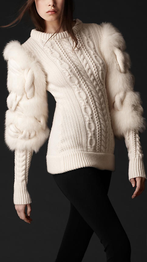 I love furry stuff, I'm including faux fur in my winter and fall knits