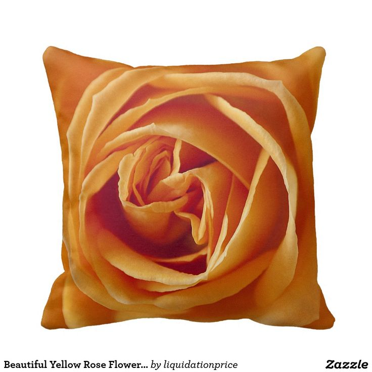 Beautiful Yellow Rose Flower Floral Pillow