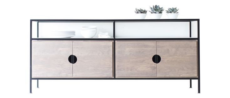 Buy Modern Credenza / Media Console - 0717 by Bertu - Made-to-Order designer Furniture from Dering Hall's collection of Industrial Mid-Century / Modern Transitional Storage.