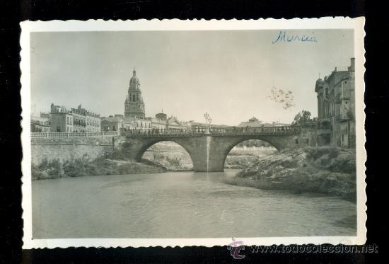 Postal antigua 0869 Murcia puente viejo río - Foto 1
