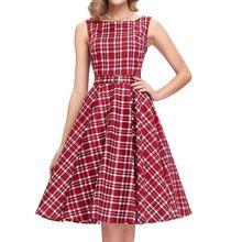 2016 Европейский Американский Стиль Шумер Осень Полиэстер-Line цельный Длиной До Колен Платье Печатные Красный Плед С Поясом мода Платье(China (Mainland))