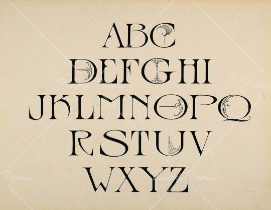 An Uppercase Art Nouveau Font That