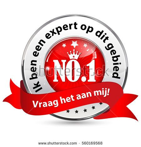 I'm an expert in this domain. Ask me (Dutch language: Ik ben een expert op dit gebied. Vraag het aan mij!) - Dutch icon / ribbon for business / consultancy companies