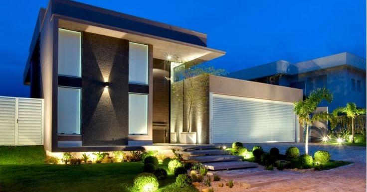 Fachadas bonitas y modernas casa alphaville fachadas Disenos de casas x dentro