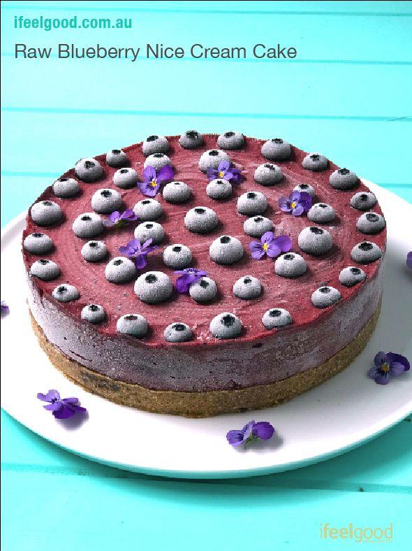 Vegan Whole Food Plant Based Raw Blueberry nice Cream Cake Whole Food Plant Based Recipes