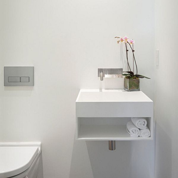 Simple and space-saving vanity perfect for small bathrooms