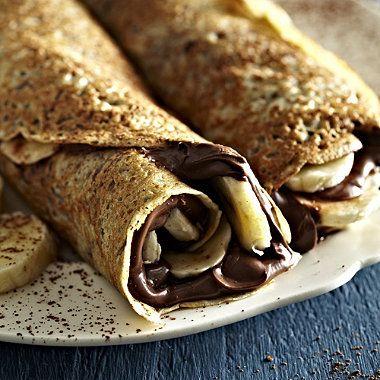 Chocolate and Banana Pancake filling. Delicious! #recipe