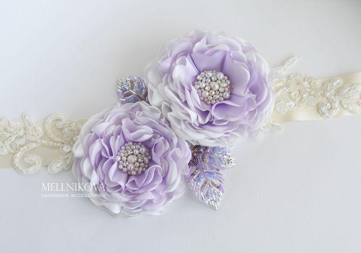 """Купить Пояс для свадебного платья """"Violet"""" - сиреневый, свадебные аксессуары, аксессуары для свадьбы, для свадьбы, свадьба"""