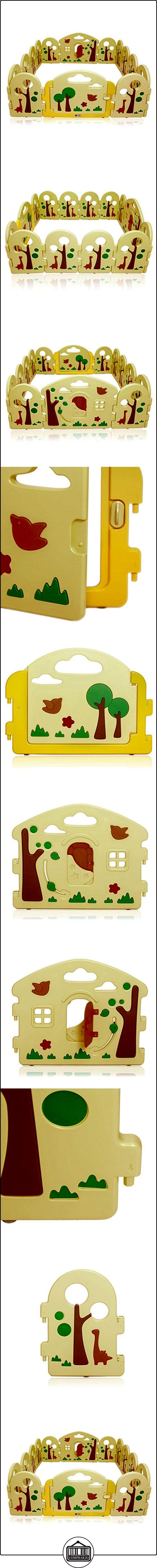 BABY VIVO Parque corralito plegable puerta robusto plastico bebe barrera de seguridad jugar Forest  ✿ Seguridad para tu bebé - (Protege a tus hijos) ✿ ▬► Ver oferta: http://comprar.io/goto/B06XCW6SGK