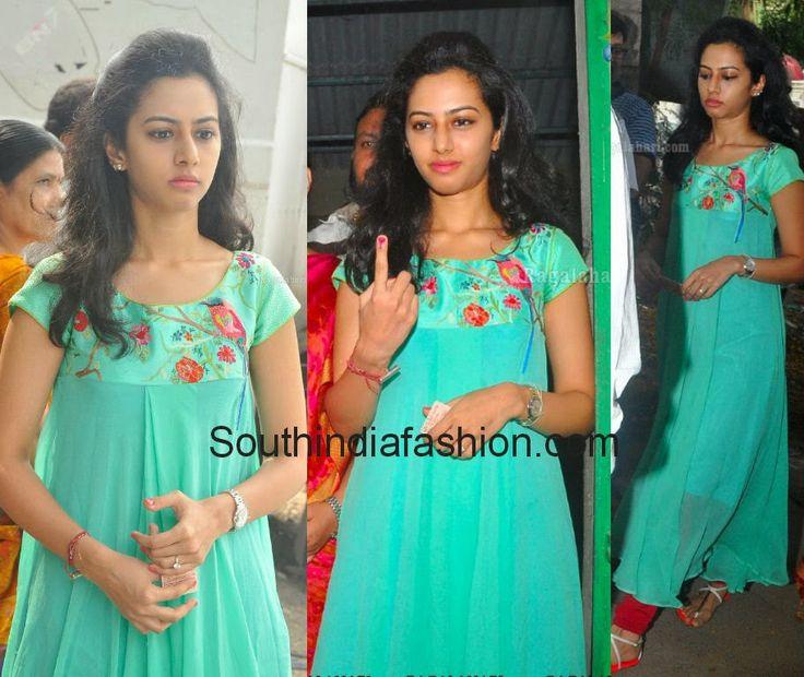 Balakrishna Daughter Tejaswini in Long Kurta ~ Celebrity Sarees, Designer Sarees, Bridal Sarees, Latest Blouse Designs 2014 South India Fashion