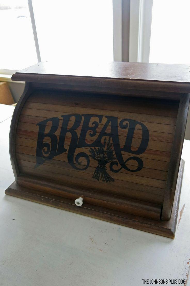 Tin bread box drawer insert - Vintage Bread Box Chalk Paint Makeover