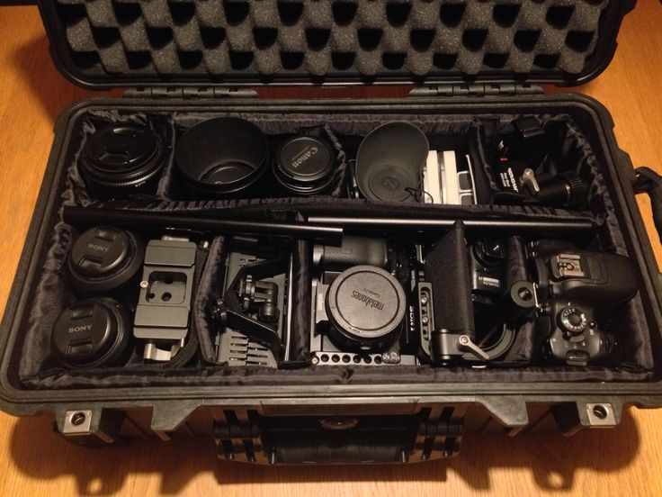 One fully loaded @Peli_uk 1510 case with #SonyA7s #Canon650D  & assorted lenses, an @movcam rig @Zacuto #Zfinder @rodemics #videopromic (hidden) & loads more kit tucked in. Can't wait to use it on my next #filmmaking trip.
