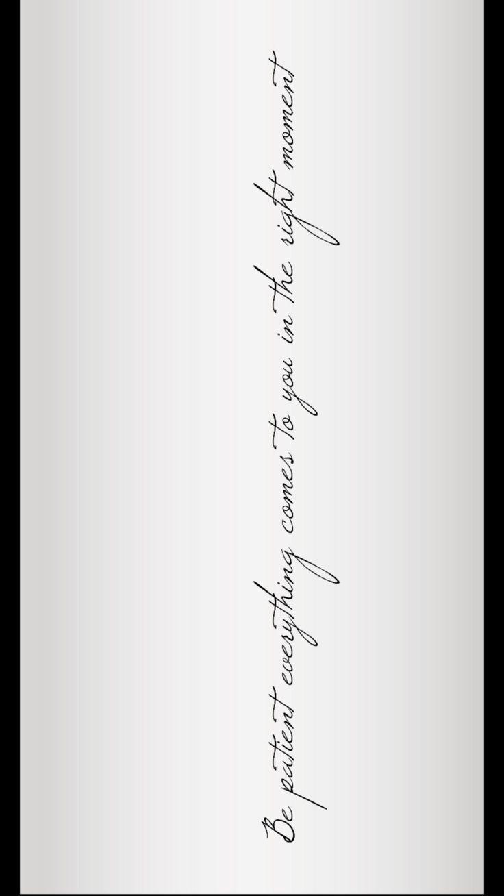 Seja paciente consigo mesmo (escrever é lindo) – #dir #patente #ist #com #S   – Tattoo ideen