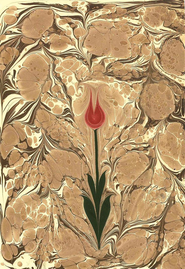 Ebru : Sabri Kalender Boyut : 35x50 Lale