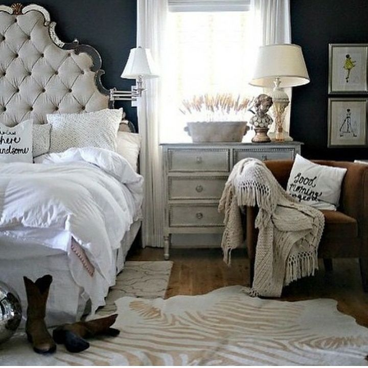 Zebra Rug Interior Design: Well Curated Bedroom With Rugs Usa Silk Screen Zebra