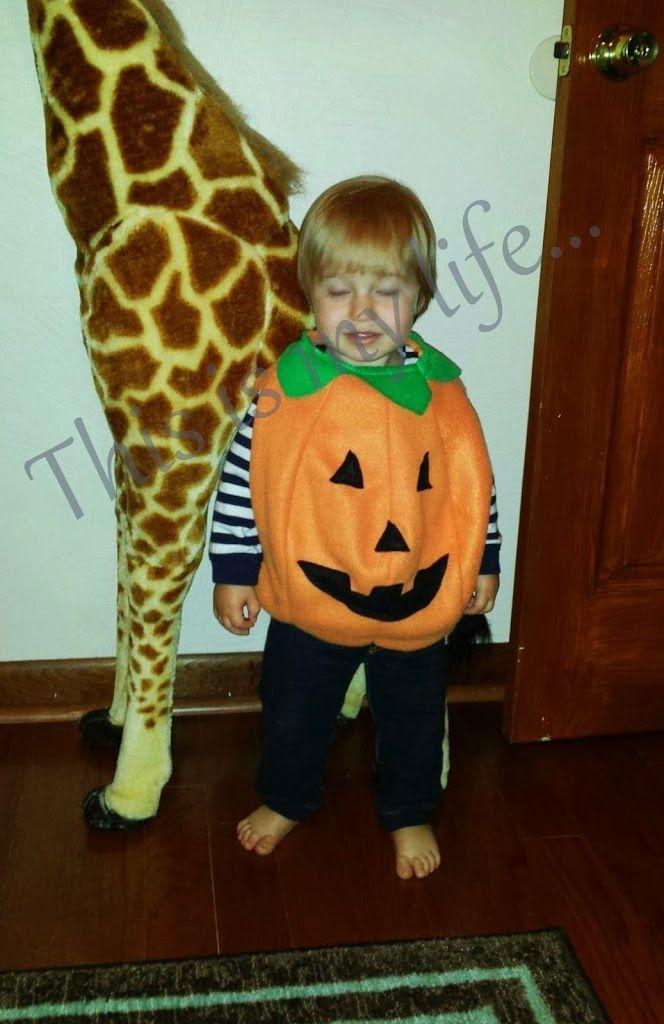(Easy) DIY Toddler Pumpkin Costume - My Mama Adventure