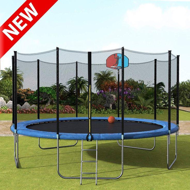 Dangruut Trampoline with Thicken Safety Enclosure, Kids