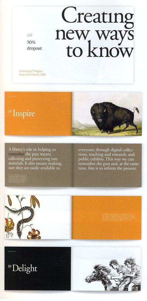 Annual report design inspo