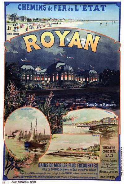 chemins de fer de l'état - Royan - 1910 - illustration de Gustave Fraipont -