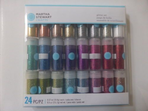 NEW-Martha-Stewart-RICH-GLITTER-ESSENTIALS-SET-24x-Colours